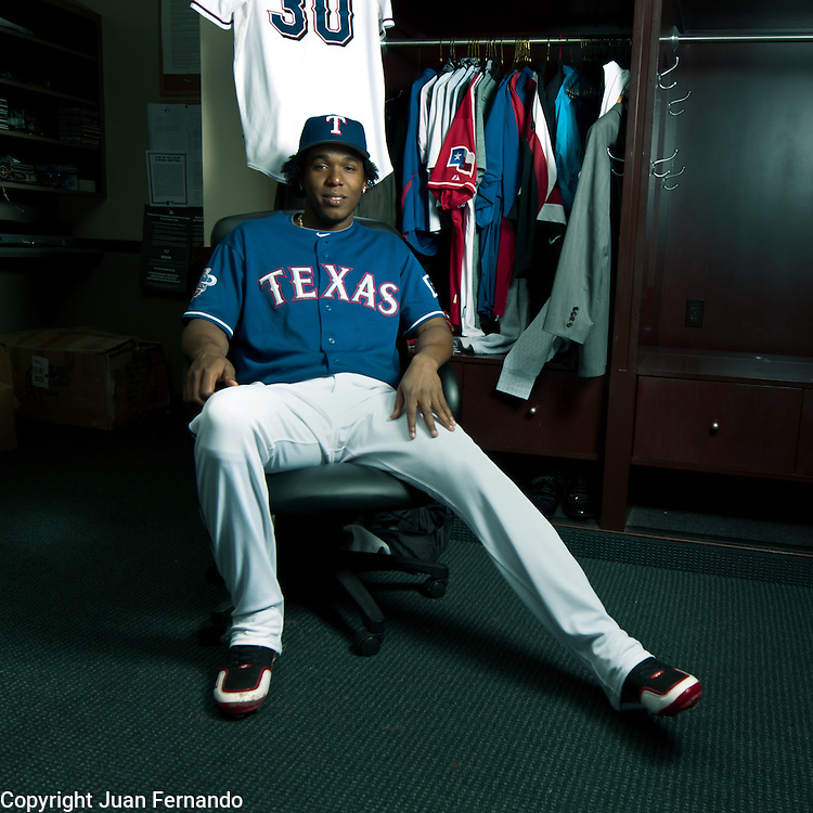 Neftali Feliz, Texas Rangers, 2010 AL All-Star Rookie of the Year, World Series Closer. Photographed in Texas by Juan Fernando