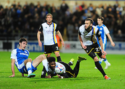 Bristol Rovers' Andy Monkhouse picks up the loose ball - Photo mandatory by-line: Neil Brookman/JMP - Mobile: 07966 386802 - 22/11/2014 - Sport - Football - Chester - Deva Stadium - Chester v Bristol Rovers - Vanarama Football Conference