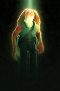 Digitally enhanced image of Jar Jar Binx Star wars action figure