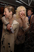 Courtney Love and Sam Taylor Wood, Fundraising party with airline theme in aid of the Old Vic and to celebrate the appointment of Kevin Spacey as artistic director.  <br />Old Billinsgate Market.  5 February 2003. © Copyright Photograph by Dafydd Jones 66 Stockwell Park Rd. London SW9 0DA Tel 020 7733 0108 www.dafjones.com