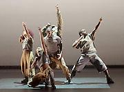 Boy Blue Entertainment <br /> Blak Whyte Gray <br /> at The Barbican Theatre, London, Great Britain <br /> press photocall / rehearsal <br /> 11th January 2016 <br /> <br /> <br /> Gray - part II <br /> Theo Godson Oloyade <br /> Natasha Gooden <br /> Dan-I Harris-Walters <br /> Nicole McDowall <br /> Idney De' Almeida <br /> Ricardo Da Silva <br /> Gemma Kay Hoddy <br /> Dickson Mbi <br /> <br /> <br /> <br /> <br /> <br /> Photograph by Elliott Franks <br /> Image licensed to Elliott Franks Photography Services