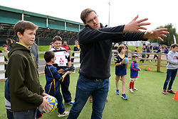 Nick Schonert interacts with children at the Community Kid Zone - Mandatory by-line: Dougie Allward/JMP - 22/10/2016 - RUGBY - Sixways Stadium - Worcester, England - Worcester Warriors v Brive - European Challenge Cup