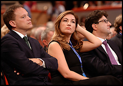 Image ©Licensed to i-Images Picture Agency. 29/09/2014. Birmingham, United Kingdom.  karren Brady watching Chancellor of the Exchequer George Osborne <br /> deliver his keynote speech on  Day 2 of the Conservative Party Conference at the ICC Birmingham. Picture by Andrew Parsons / i-Images
