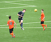 Dundee's Matty Allan heads clear - Dundee v Dundee United under 20s<br /> <br />  - &copy; David Young - www.davidyoungphoto.co.uk - email: davidyoungphoto@gmail.com