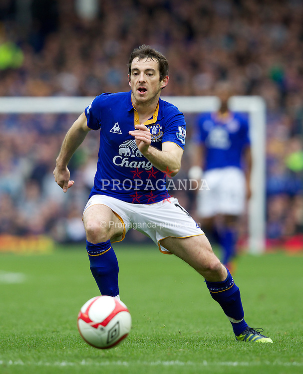 LIVERPOOL, ENGLAND - Saturday March 17, 2012: Everton's Leighton Baines in action against Sunderland during the FA Cup Quarter-Final match at Goodison Park. (Pic by Vegard Grott/Propaganda)