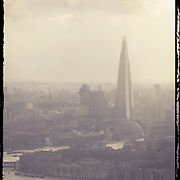 London city scape , shard, winter scene