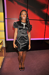 ALEXANDRA BURKE winner of X Factor at a party to celebrate the opening of the newly refurbished Prada Store 16/18 Old Bond Street, London on 16th February 2009.