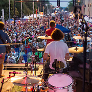 Third Shift Performs  at Decatur Celebration, Decatur, Illinois, August 1, 2014. Photo: George Strohl