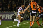 Kelepi Tanginoa (36) of Wakefield Trinity during the Betfred Super League match between Castleford Tigers and Wakefield Trinity Wildcats at the Jungle, Castleford, United Kingdom on 21 February 2020.