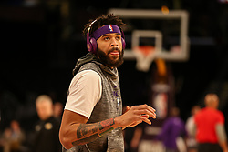 February 27, 2019 - Los Angeles, CA, U.S. - LOS ANGELES, CA - FEBRUARY 27: Los Angeles Lakers Center JaVale McGee (7) before the New Orleans Pelicans versus Los Angeles Lakers game on February 27, 2019, at Staples Center in Los Angeles, CA. (Photo by Icon Sportswire) (Credit Image: © Icon Sportswire/Icon SMI via ZUMA Press)
