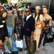 Fashionista attend London Fashion Week SS20 at 180 Strand on 13 September 2019, London, UK.