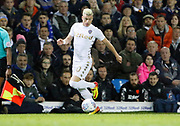 Ezgjan Alioski of Leeds United during the EFL Sky Bet Championship match between Leeds United and Sheffield Utd at Elland Road, Leeds, England on 27 October 2017. Photo by Paul Thompson.