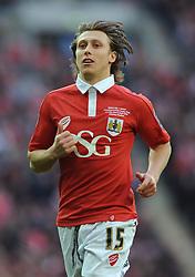Bristol City's Luke Freeman - Photo mandatory by-line: Dougie Allward/JMP - Mobile: 07966 386802 - 22/03/2015 - SPORT - Football - London - Wembley Stadium - Bristol City v Walsall - Johnstone Paint Trophy Final