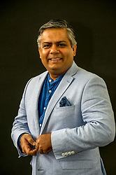 Pictured: Vivek Singh is a London-based Indian chef, restaurateur, and media personality known for his innovative take on Indian cuisine<br /> Book fanatics headed to Charlotte Square in Edinburgh which is the hub of the international Book Festival to meet the authors and also to meet up with fellow fans of the printed word.<br /> <br /> <br /> Ger Harley   EEm 21 August 2017
