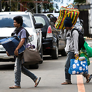 MARAWI, PHILIPPINES - JUNE 4: Displaced residents arrive with their belongings in Provincial Capitol Complex while government troops are trying to recover other families who are left behind in the outskirts of Marawi City in southern Philippines, June 4, 2017. Philippine Arm Forces and Marines continue to advance their positions as more soldiers reinforce to fight the Maute group in Marawi City, Mindanao, Philippines. (Photo: Richard Atrero de Guzman/ANADOLU Agency)