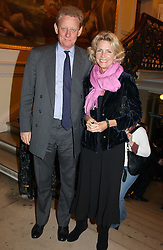 MR & MRS DAVID VEREY, he is a former chairman of the Trustees of Tate Britain at a reception to celebrate the opening of Turks:A Journey of a Thousand Years, 600-1600 - an exhibition of Turkish art held at the Royal Academy of Arts, Piccadilly, London on 18th February 2005.<br /><br />NON EXCLUSIVE - WORLD RIGHTS