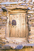 IGHREM, MOROCCO - MAY 26TH 2016 - Close up of an old door to a storage chamber inside the Ighrem Granary, Souss Massa Draa, Southern Morocco.