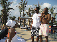 **EXCLUSIVE**.India Arie, AJ Calloway & Mos Def.Cain at the Cove Hotel Opening.Kaimilla Fashion Show at the Cain pool.Paradise Island, Bahamas.Friday, May 11, 2007 .Photo By Celebrityvibe.To license this image please call (212) 410 5354; or.Email: celebrityvibe@gmail.com ;