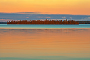 Perrault Lake at sunset<br />