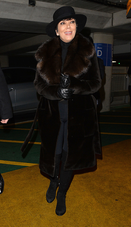 Kris Jenner arriving at Heathrow airport in London, UK. 21/01/2015<br />BYLINE MUST READ : GOTCHAIMAGES.COM<br /><br />Copyright by &copy; Gotcha Images Ltd. All rights reserved.<br />Usage of this image is conditional upon the acceptance <br />of Gotcha Images Ltd, terms and conditions available at<br />www.gotchaimages.com