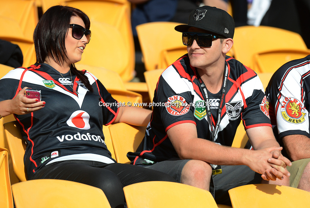 Fans. Holden Cup Rugby League match, Vodafone Junior Warriors v Junior Cowboys at Mt Smart Stadium, Auckland, New Zealand on Monday 1 April 2013. Photo: Andrew Cornaga/Photosport.co.nz