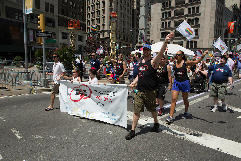 Marriage Equality USA was among the march participants.