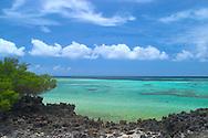 Aldabra Atoll, The Seychelles<br /> Beach and sea