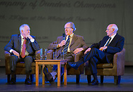 Craig Brown and Alan Gilzean listen while Ian Ure tells a champiobship season story - Dundee FC night of champions at the Whitehall Theatre, Dundee, Photo: David Young<br /> <br />  - &copy; David Young - www.davidyoungphoto.co.uk - email: davidyoungphoto@gmail.com