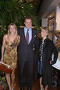 Viscount and Viscountess Rothermere and Safar Hashemi. Launch dinner for Island Beauty by India Hicks hosted by Charles Finch and Harvey Nichols Fifth Floor Restaurant. London. .  14  November 2005 . ONE TIME USE ONLY - DO NOT ARCHIVE © Copyright Photograph by Dafydd Jones 66 Stockwell Park Rd. London SW9 0DA Tel 020 7733 0108 www.dafjones.com