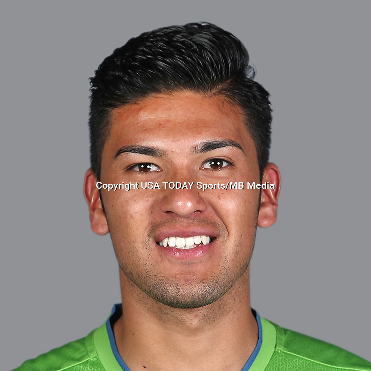 Feb 25, 2017; USA; Seattle Sounders FC player Tony Alfaro poses for a photo. Mandatory Credit: USA TODAY Sports