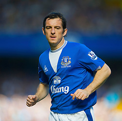 LIVERPOOL, ENGLAND - Sunday, September 20, 2009: Everton's Leighton Baines during the Premiership match against Blackburn Rovers at Goodison Park. (Pic by David Rawcliffe/Propaganda)