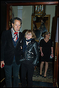 RICHARD E. GRANT; JOAN WASHINGTON, Party to celebrate Vanity Fair's very British Hollywood issue. Hosted by Vanity Fair and Working Title. Beaufort Bar, Savoy Hotel. London. 6 Feb 2015