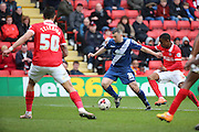 Birmingham City defender, Paul Caddis (31) with a Birmingham City attack during the Sky Bet Championship match between Charlton Athletic and Birmingham City at The Valley, London, England on 2 April 2016. Photo by Matthew Redman.