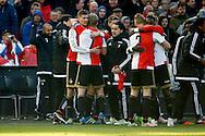 24-04-2016 VOETBAL: KNVB BEKERFINALE FEYENOORD-FC UTRECHT: ROTTERDAM <br /> <br /> Michiel Kramer van Feyenoord viert zijn doelpunt met Dirk Kuyt van Feyenoord<br />  <br /> foto: Geert van Erven