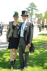 The HON.ROBERT HANSON and his wife MARSHA at the second day of the 2010 Royal Ascot Racing festival at Ascot Racecourse, Berkshire on 16th June 2010.