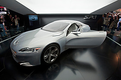 Peugeot SR1 concept turbo diesel hybrid car at Paris Motor Show 2010