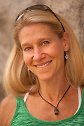 """A portrait of of former World Champion sport climber Robyn Erbesfield-Raboutou, the founder of the """"ABC for Kids"""" and """"Team ABC"""" climbing programs."""