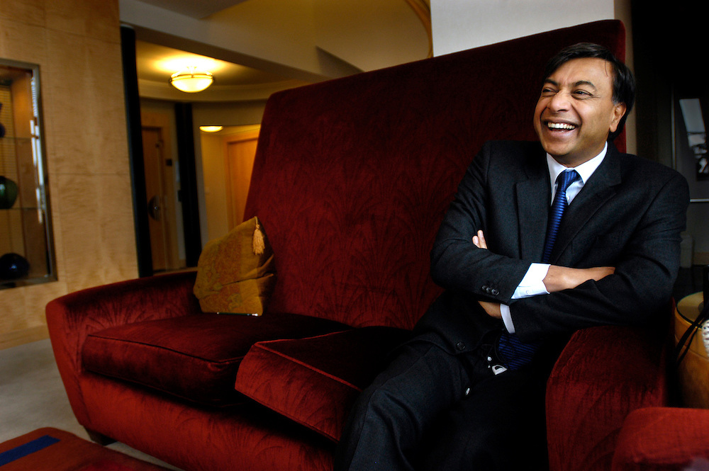 Lakshmi Mittal, steel magnate and now possibly Britain's richest man photographed in New York City