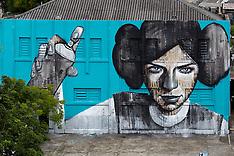 Brazil - Graffiti Art At Sao Paulo Elite Military Police Headquarters - 12 Nov 2016