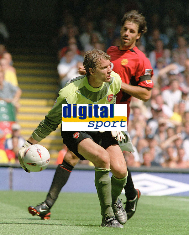 Jens Lehmann (Arsenal goalkeeper). Manchester United v Arsenal. Community Shield.10/8/03. Millennium Stadium. Credit : Colorsport/Andrew Cowie.