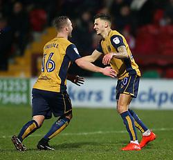 Jamie Paterson of Bristol City celebrates after scoring his sides first goal  - Mandatory by-line: Matt McNulty/JMP - 17/01/2017 - FOOTBALL - Highbury Stadium - Fleetwood,  - Fleetwood Town v Bristol City - Emirates FA Cup Third Round Replay