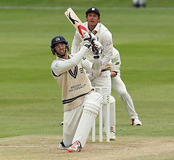 Middlesex's Steven Finn batting - Photo mandatory by-line: Robbie Stephenson/JMP - Mobile: 07966 386802 - 04/05/2015 - SPORT - Football - London - Lords  - Middlesex CCC v Durham CCC - County Championship Division One