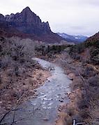 The Watchman, Watchman, Watchman Trail, Virgin River Canyon, Virgin River, Sandstone Canyon, Canyon, Sandstone, Zion, Zion National Park, Utah