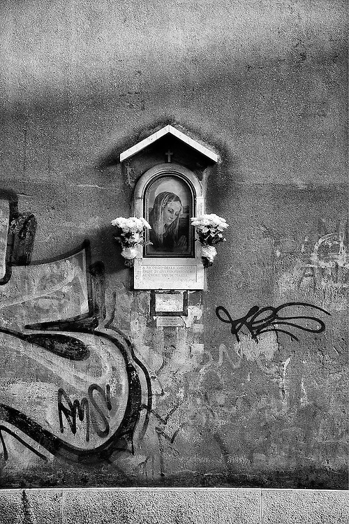 Faith on the Wall<br /> In a remote village, Bologna, Italy