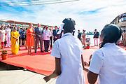 Zijne Majesteit Koning Willem-Alexander en Hare Majesteit Koningin Máxima brengen op uitnodiging van president Ram Nath Kovind een staatsbezoek aan de Republiek India.<br /> <br /> His Majesty King Willem-Alexander and Her Majesty Queen Máxima on a state visit to the Republic of India at the invitation of President Ram Nath Kovind.<br /> <br /> Op de foto / On the photo: Koning en Koningin bezoeken een rijstveld maken met een Houseboat een tocht over de Backwaters Alleppey /// King and Queen visit a rice field, make a houseboat trip on the Backwaters Alleppey