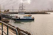 Pilot's boat moored at Figueira da Foz, Portugal