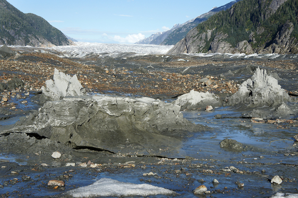 Photographs from around Baird Glacier, a stunningly beautiful mixture of ice, water and unusual mud in southeast Alaska.