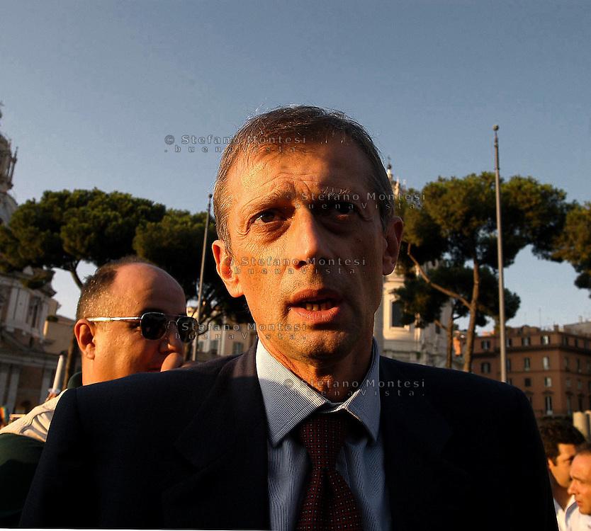 Roma  10 Settembre 2004.Il Segretario  dei Democratici di Sinistra Piero Fassino.Rome September 10, 2004.The Secretary of the Democratic Left Piero Fassino