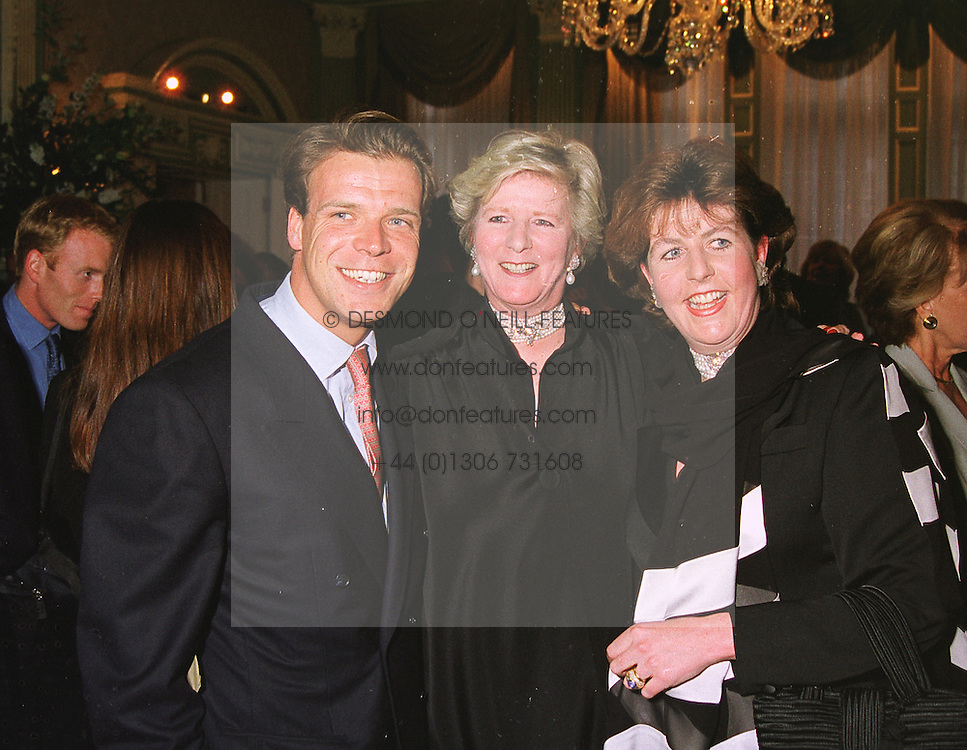 Left to right, MR JOEL CADBURY, his mother MRS JENNIFER d'ABO and his sister MRS CHARLES FARR, at a party in London on 5th May 1999.MRT 67