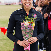 23 March 2018: San Diego State senior Anushi Desai is recognized during a seniors ceremony at  the final day of the 43rd annual Aztec Invitational.<br /> More game action at sdsuaztecphotos.com